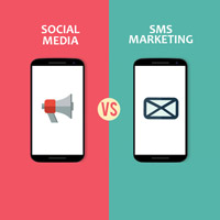 SMS marketing vs social media for mobile phone users