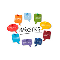 SMS marketing ideas and important concepts in stickers
